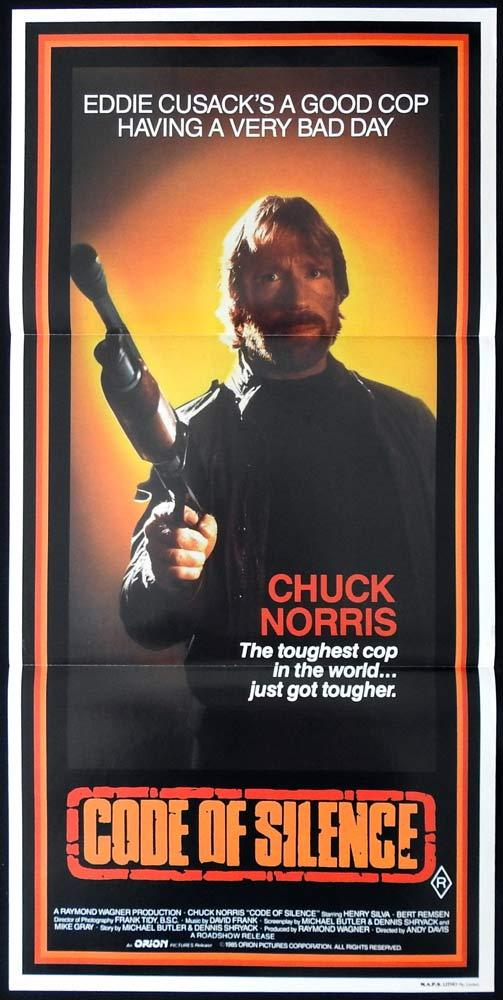 Karate cop Chuck Norris vintage movie poster print