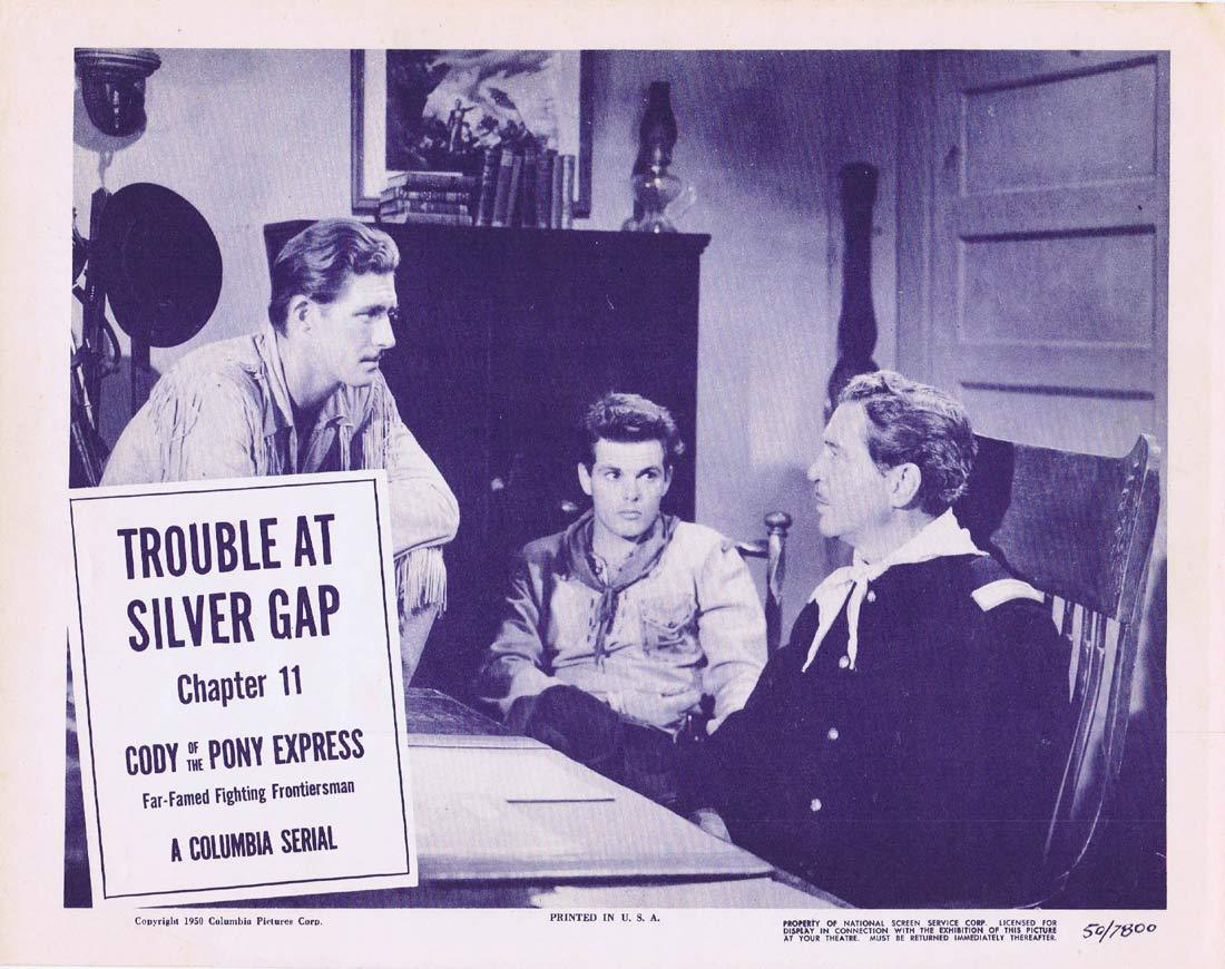 CODY OF THE PONY EXPRESS Original Lobby Card Chapter 11 Columbia Serial Jock O'Mahoney