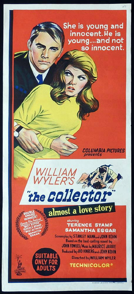 THE COLLECTOR Original Daybill Movie Poster Samantha Eggar Terence Stamp