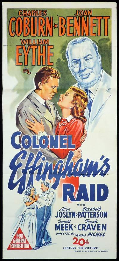 COLONEL EFFINGHAM'S RAID Daybill Movie Poster Joan Bennett