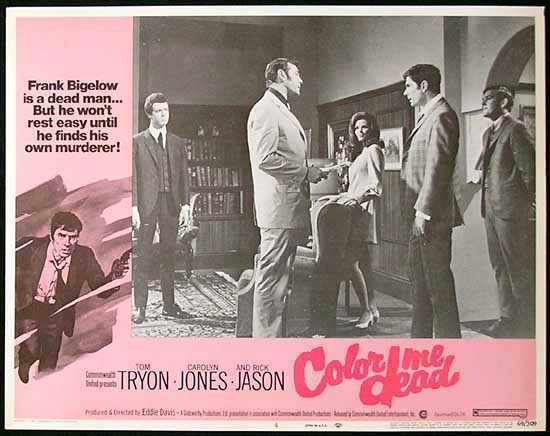 COLOR ME DEAD Lobby Card #4 1969 Tom Tryon FILM NOIR Australian Made Film