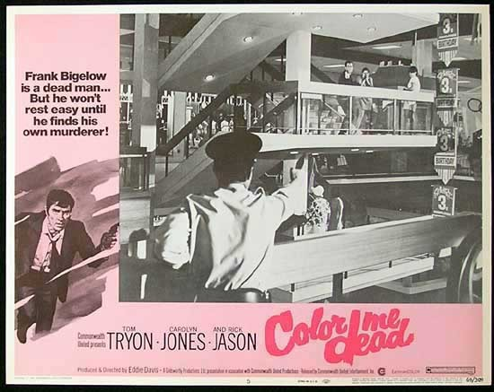 COLOR ME DEAD Lobby Card #5 1969 Tom Tryon FILM NOIR Australian Made Film