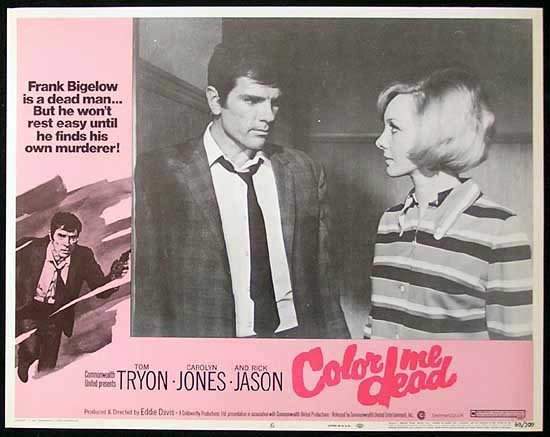 COLOR ME DEAD Lobby Card #6 1969 Tom Tryon FILM NOIR Australian Made Film