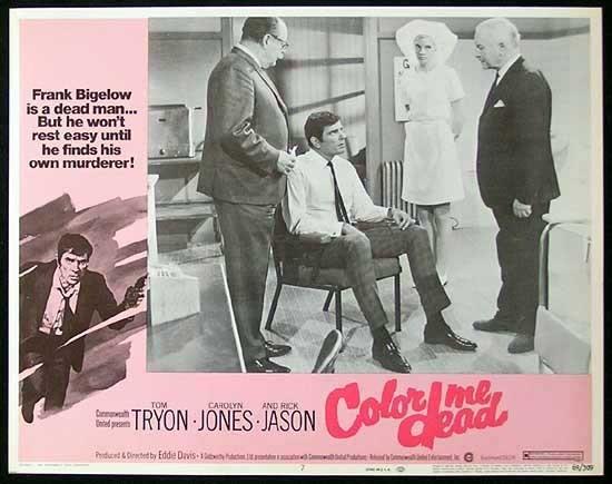 COLOR ME DEAD Lobby Card #7 1969 Tom Tryon FILM NOIR Australian Made Film
