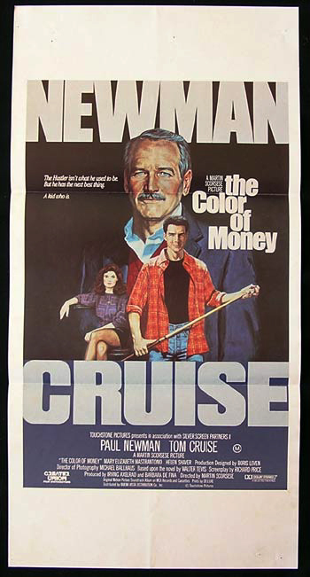 THE COLOR OF MONEY Original Daybill Movie Poster Paul Newman Tom Cruise