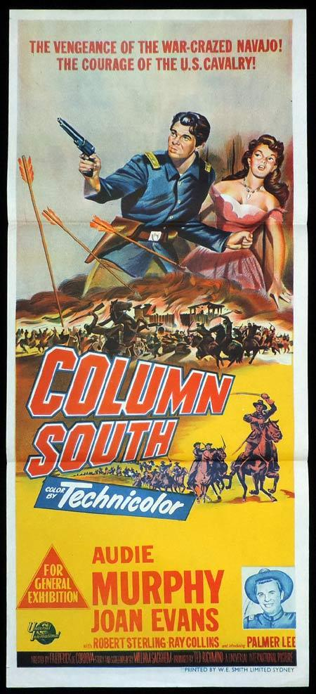 COLUMN SOUTH Original Daybill Movie Poster Audie Murphy