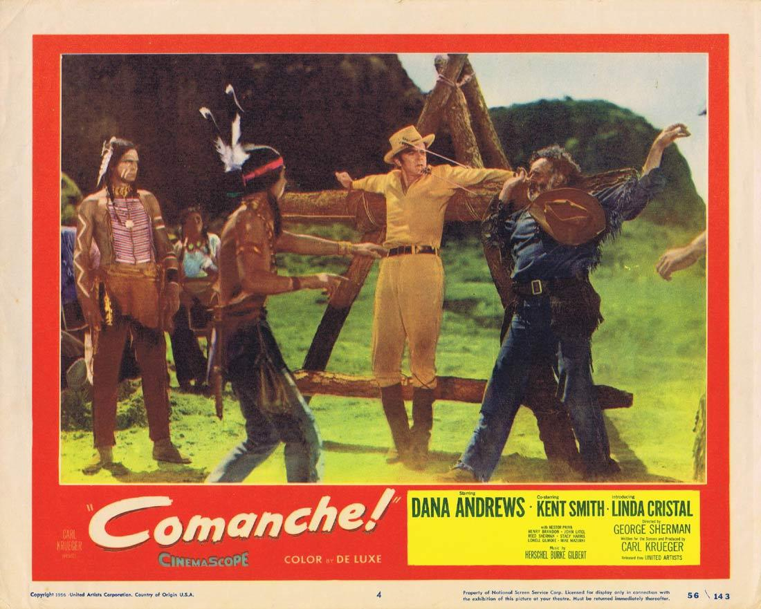 COMANCHE Original Lobby Card 4 Dana Andrews Kent Smith