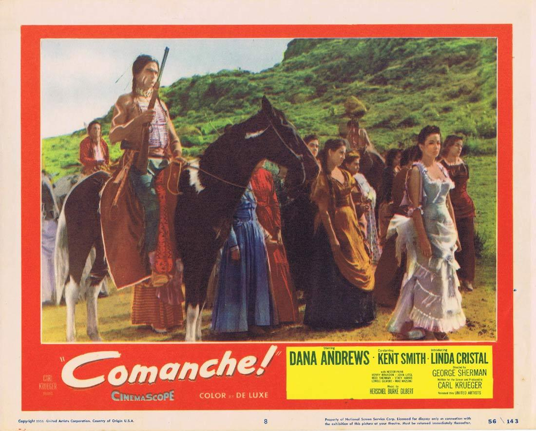 COMANCHE Original Lobby Card 8 Dana Andrews Kent Smith