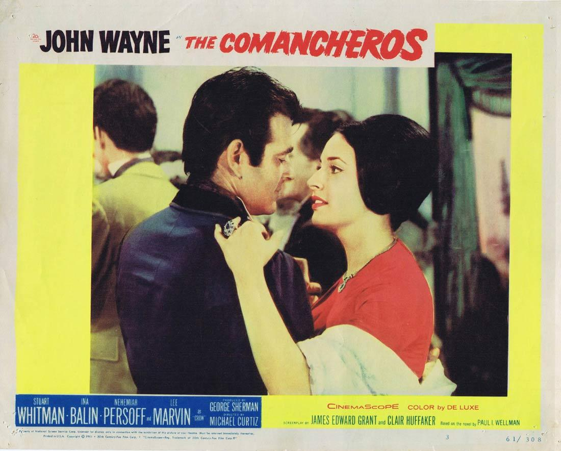 THE COMANCHEROS Vintage Movie Lobby Card 3 John Wayne Stuart Whitman Ina Balin