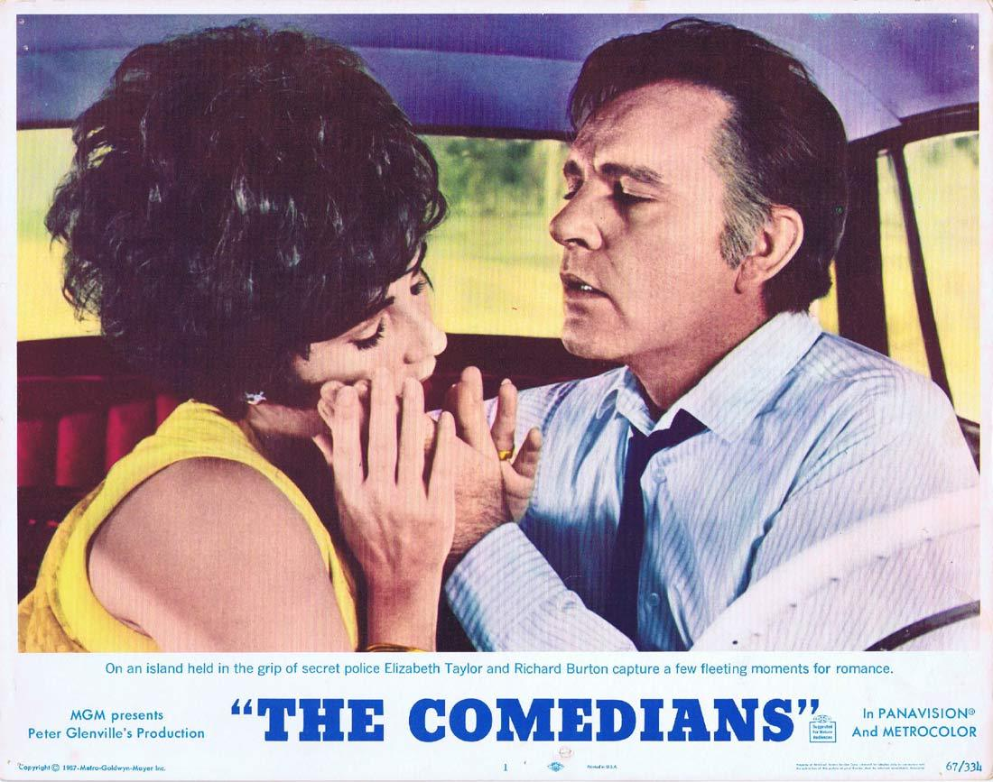THE COMEDIANS Original Lobby Card 1 Elizabeth Taylor Richard Burton