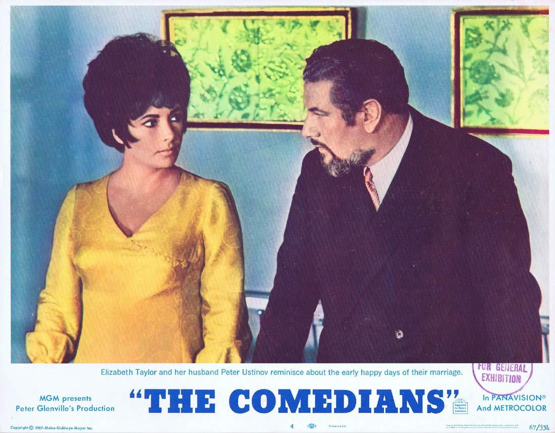THE COMEDIANS Original Lobby Card 4 Elizabeth Taylor Richard Burton