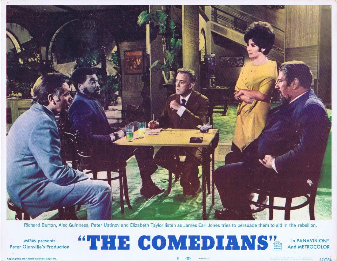 THE COMEDIANS Original Lobby Card 8 Elizabeth Taylor Richard Burton