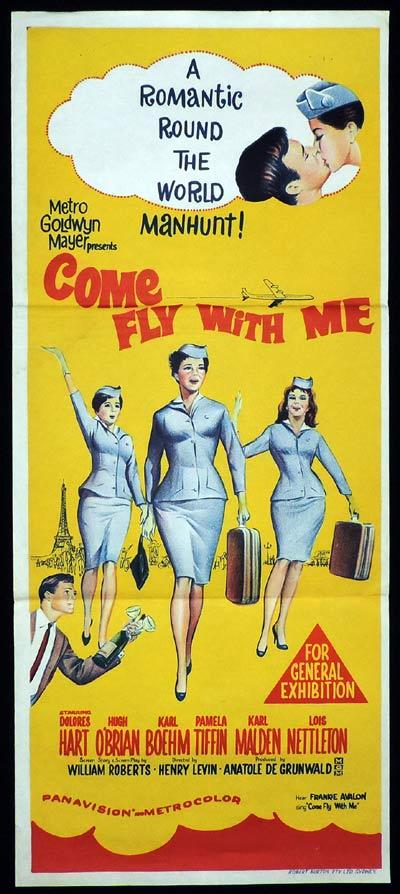 COME FLY WITH ME Original Daybill Movie Poster Dolores Hart