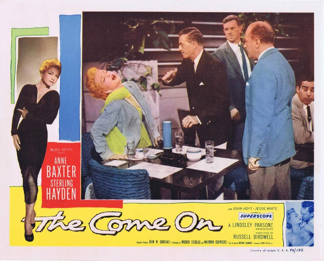 THE COME ON Original Lobby Card Anne Baxter Sterling Hayden Film Noir