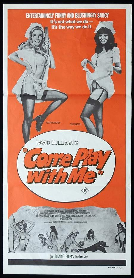 COME PLAY WITH ME Original Daybill Movie Poster MARY MILLINGTON Sexploitation