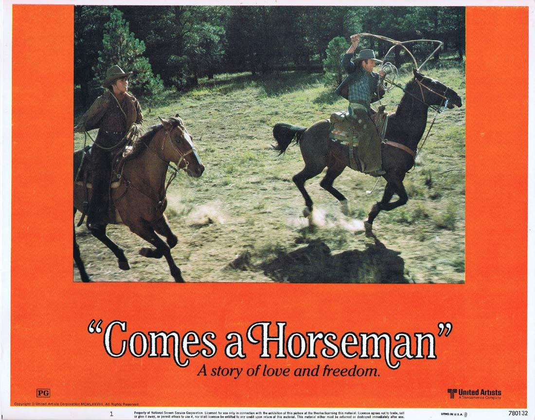 COMES A HORSEMAN Original Lobby Card 1 James Caan Jane Fonda