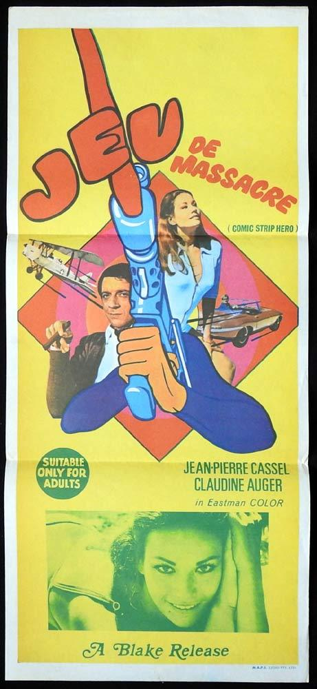COMIC STRIP HERO Original Daybill Movie poster Claudine Auger Jeu de Massacre