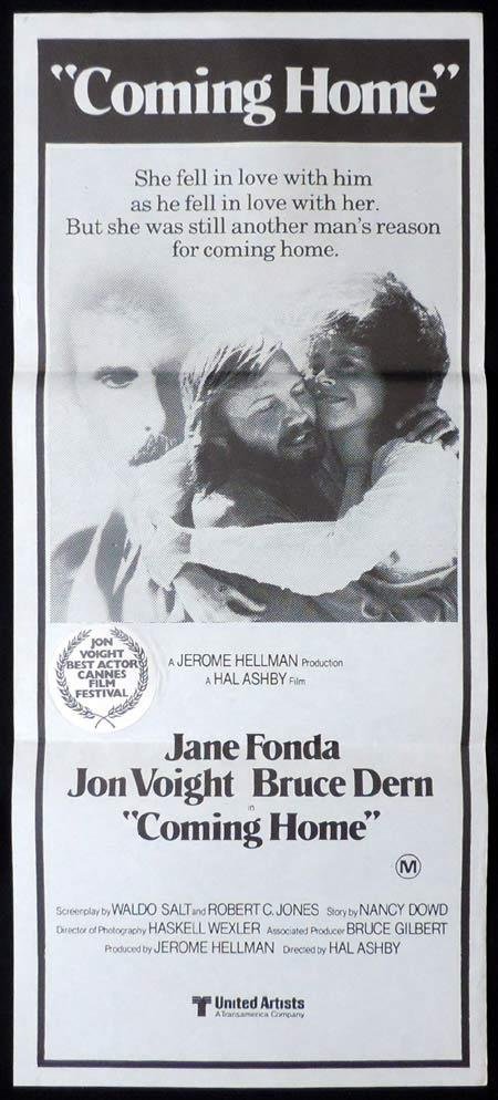 COMING HOME Original Daybill Movie Poster Jane Fonda Jon Voight