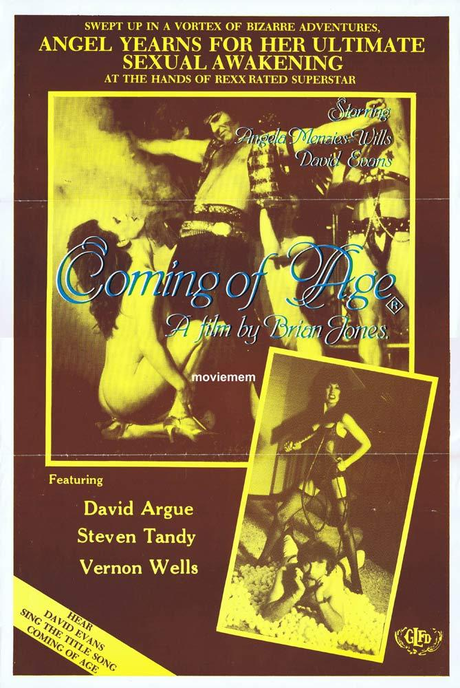 COMING OF AGE Original Movie Poster DAVID EVANS AC/DC Vernon Wells Sexploitation