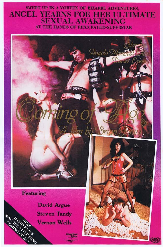COMING OF AGE Original Video Movie Poster DAVID EVANS AC/DC Vernon Wells Sexploitation
