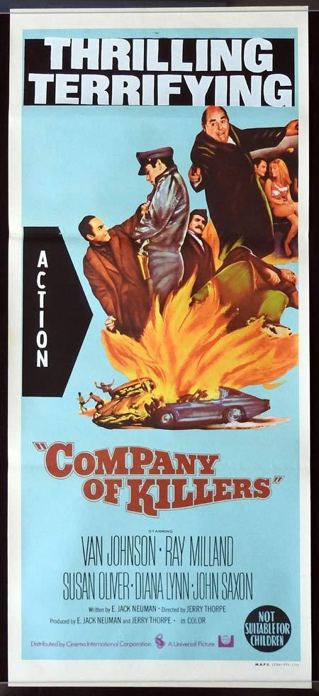COMPANY OF KILLERS Original Daybill Movie Poster Van Johnson Ray Milland Susan Oliver