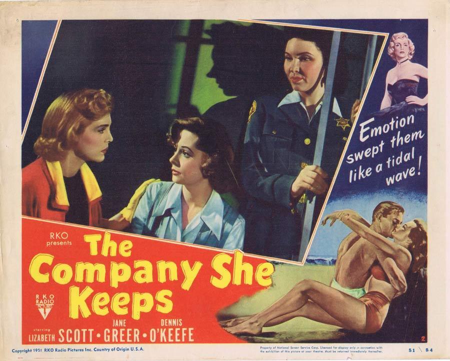 THE COMPANY SHE KEEPS Lobby Card 2 Film Noir Lizabeth Scott Jane Greer
