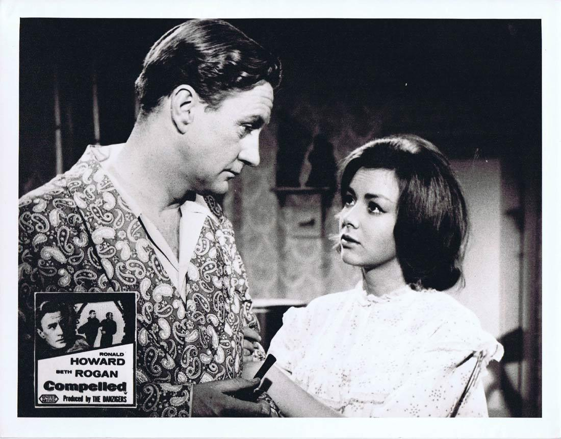 COMPELLED Original Australian Lobby Card 2 Ronald Howard Beth Rogan