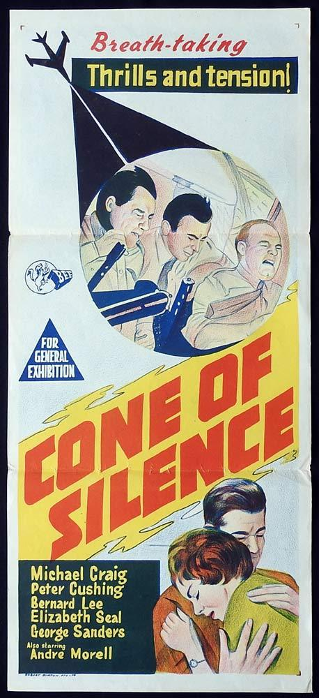 CONE OF SILENCE Original Daybill Movie Poster Peter Cushing Michael Craig