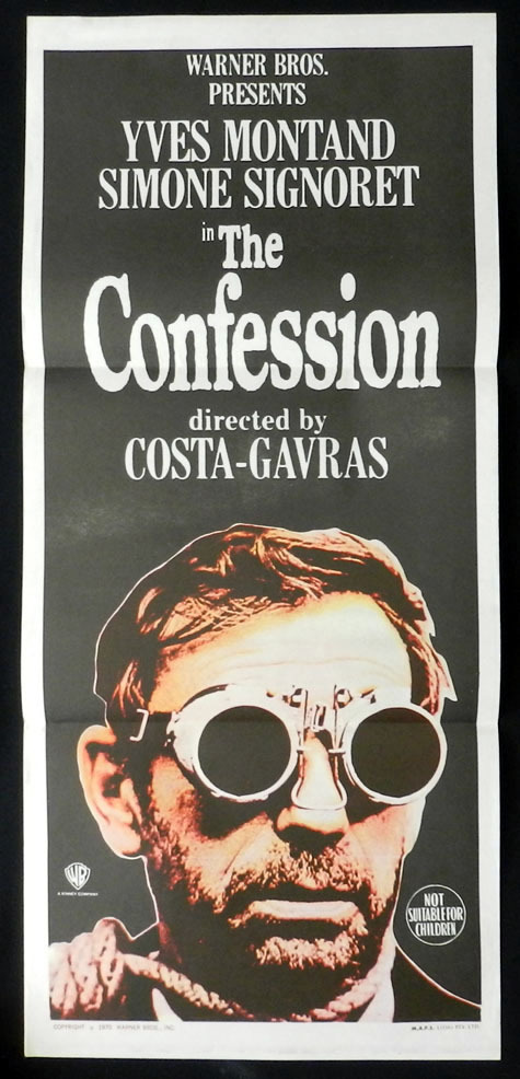 THE CONFESSION 1970 L'Aveu Montand RARE Daybill Movie Poster