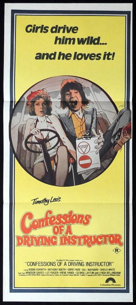 CONFESSIONS OF A DRIVING INSTRUCTOR Original Daybill Movie Poster Robin Askwith Antony Booth