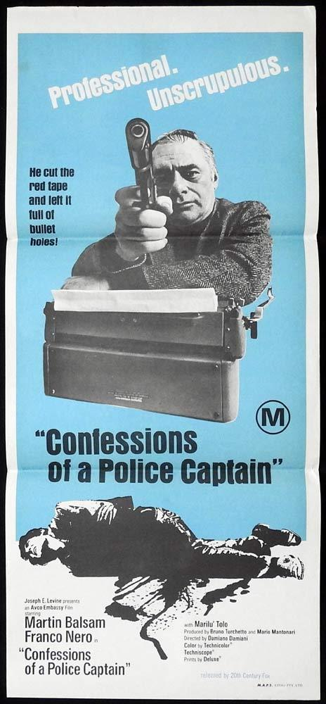 CONFESSIONS OF A POLICE CAPTAIN Original Daybill Movie Poster Martin Balsam Franco Nero