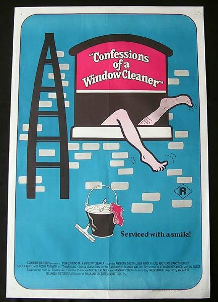 CONFESSIONS OF A WINDOW CLEANER Original One sheet Movie poster Robin Askwith Antony Booth