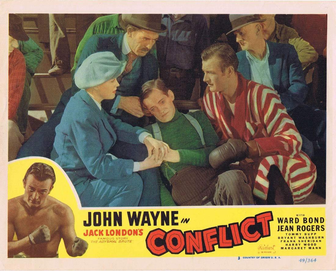CONFLICT 1949r Vintage Lobby Card 3 John Wayne Jack London's Abysmal Brute