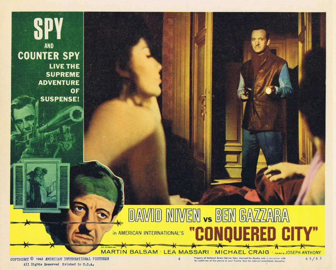 CONQUERED CITY Lobby Card 4 David Niven Ben Gazzara