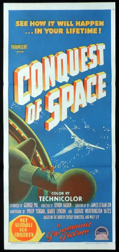 CONQUEST OF SPACE Original daybill Movie poster Byron Haskin Sci FI
