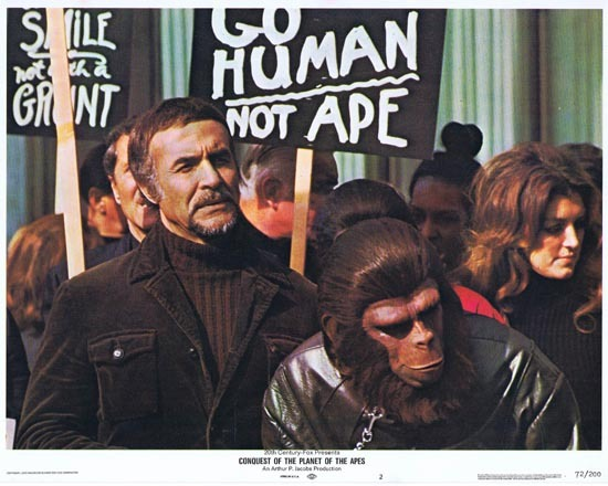 CONQUEST OF THE PLANET OF THE APES Lobby Card 2 1972 Roddy McDowall