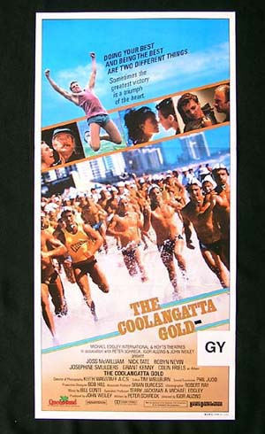 COOLANGATTA GOLD Original Daybill Movie poster Surfing Ironman Colin Friels