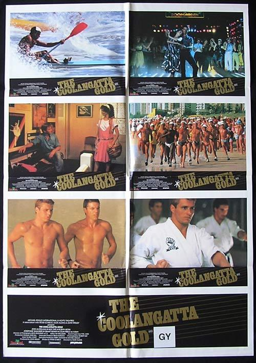 COOLANGATTA GOLD 1984 Surfing Ironman Colin Friels RARE Photo sheet Movie poster