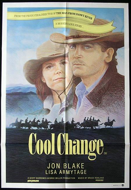 COOL CHANGE 1986 Jon Blake Australian Cinema Vintage One sheet Movie poster