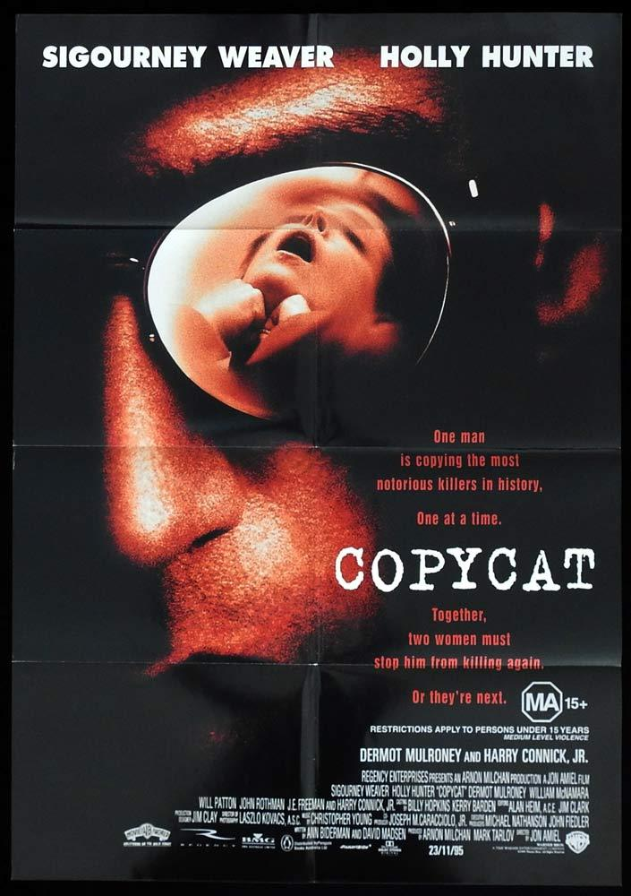 COPYCAT One sheet Movie Poster Harry Connick Jnr Sigourney Weaver
