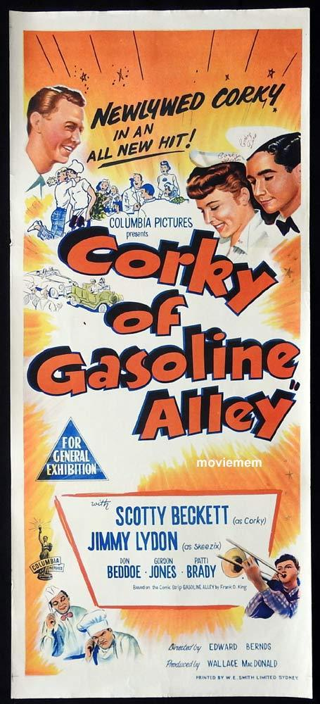 CORKY OF GASOLINE ALLEY Original Daybill Movie Poster Scotty Beckett  Jimmy Lydon