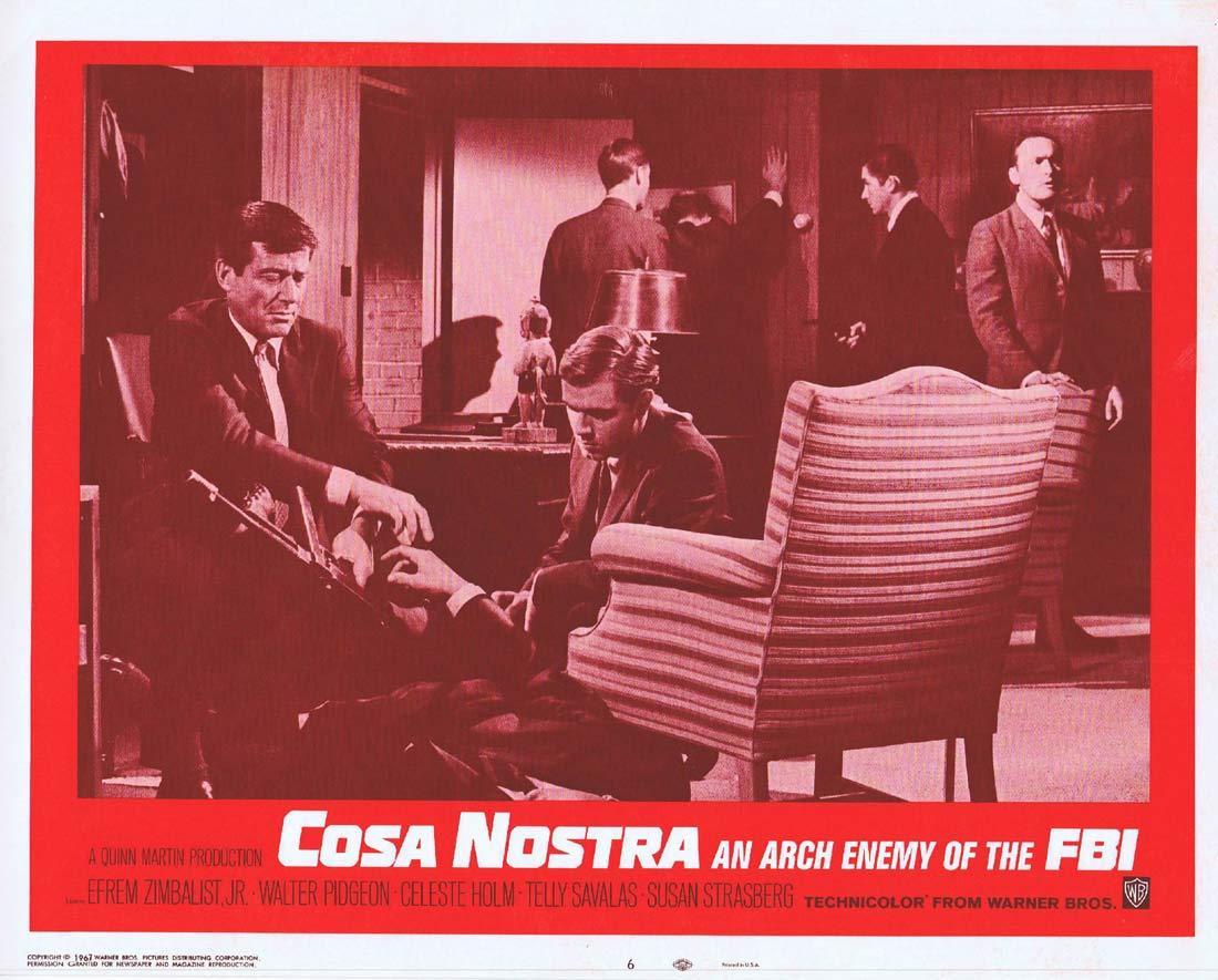 COSA NOSTRA ARCH ENEMY OF THE FBI Original Lobby Card 6 Efrem Zimbalist Jr