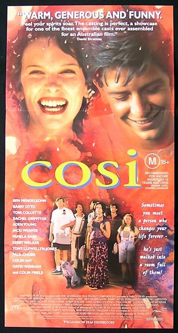 COSI 1996 Toni Collette Rachel Griffiths Daybill Movie poster