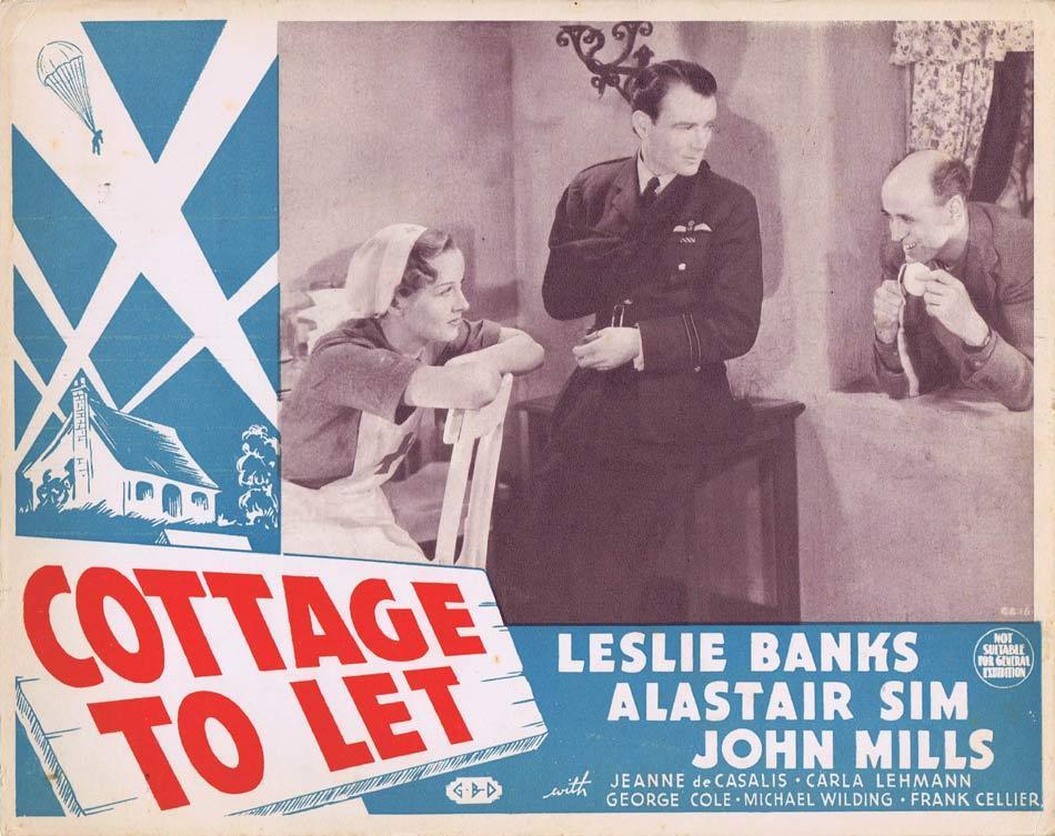 COTTAGE TO LET Australian Lobby Card Leslie Banks Alistair Sim