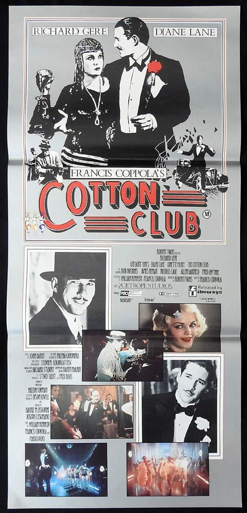 THE COTTON CLUB Daybill Movie Poster Richard Gere Gregory Hines Diane Lane