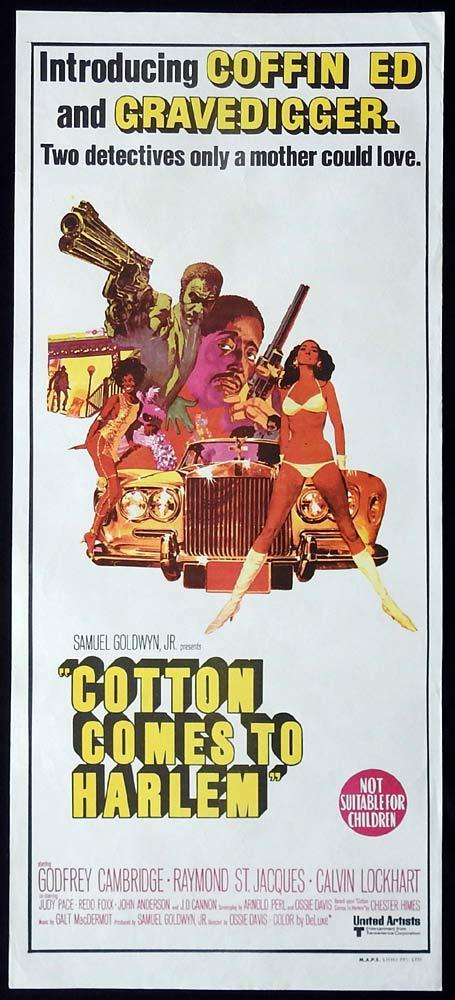 COTTON COMES TO HARLEM Daybill Movie Poster Godfrey Cambridge Raymond St Jacques