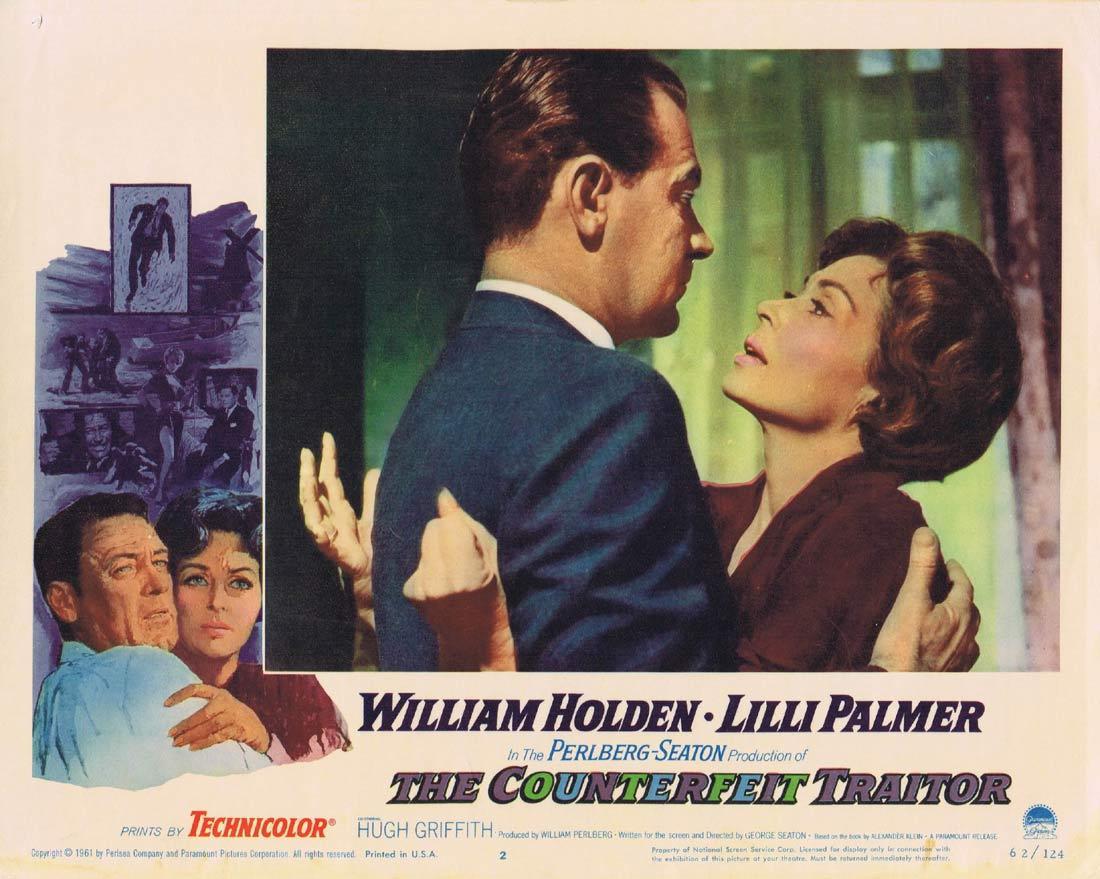 THE COUNTERFEIT TRAITOR Lobby Card 2 William Holden Lilli Palmer Hugh Griffith
