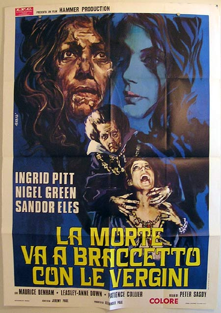 COUNTESS DRACULA Original Italian Movie Poster Ingrid Pitt HAMMER Italian