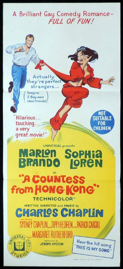 A COUNTESS FROM HONG KONG daybill Movie poster Marlon Brando Sophia Loren