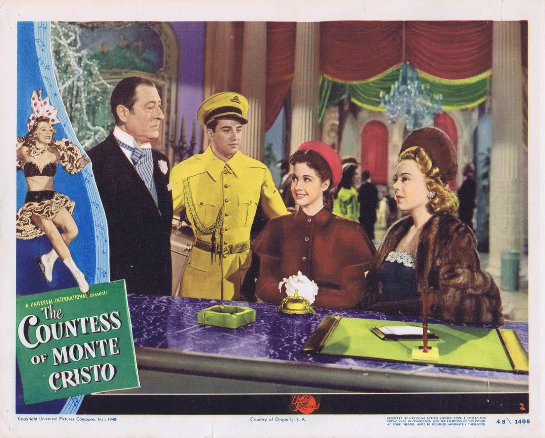 THE COUNTESS OF MONTE CRISTO Lobby Card 2 Sonja Henie Olga San Juan Dorothy Hart